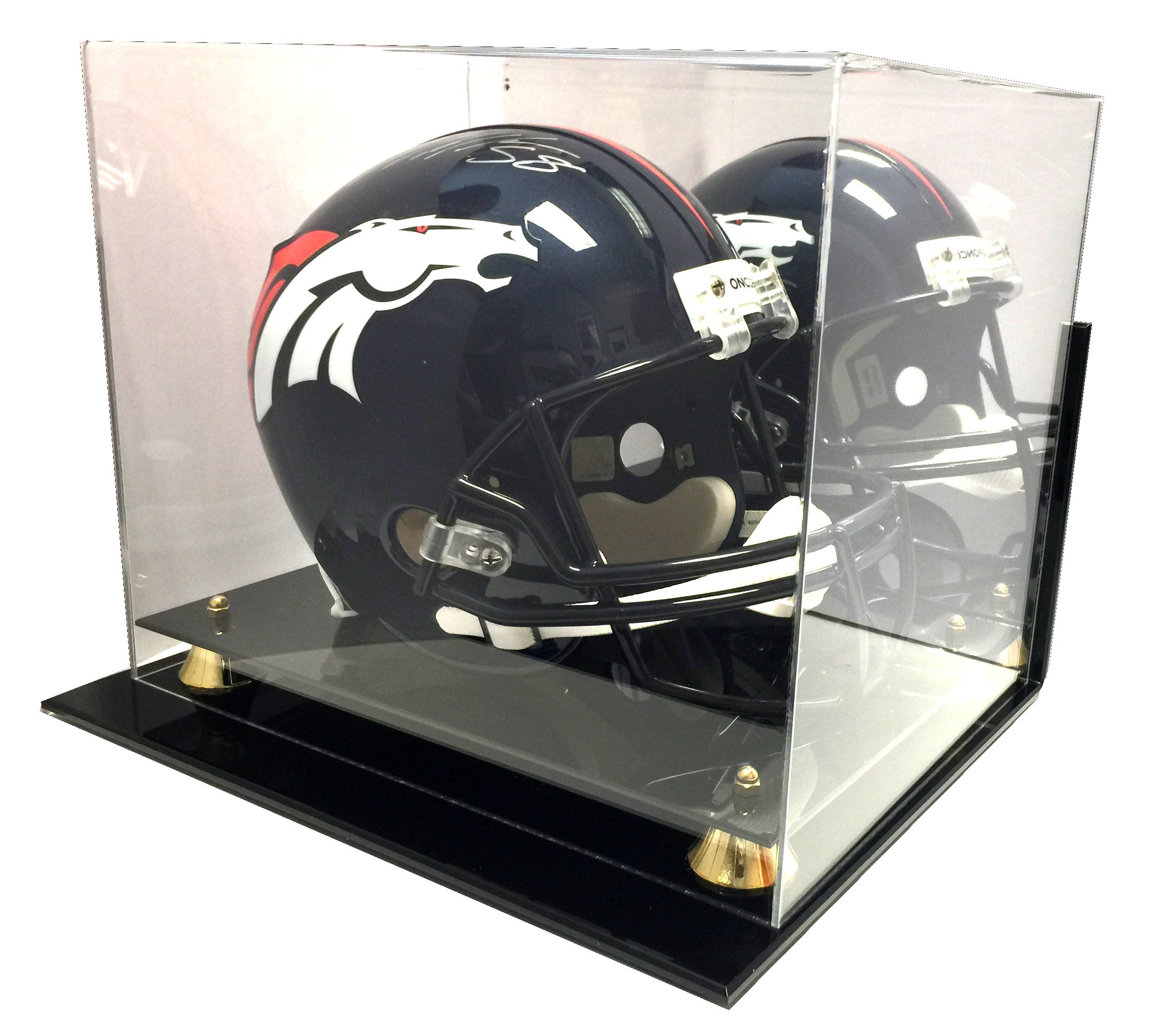 Max Protection Wall Mount Full Size NCAA / NFL Pro Collectible Football Helmet Display Case with UV Protection