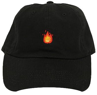 Amazon.com  Generic Custom Dad Hat Fire Emoji Black Strapback  Shoes 1fdddf317520