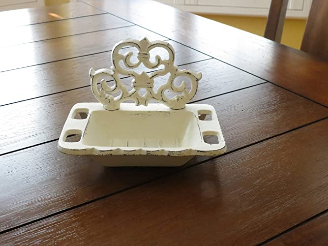 Amazon soap dish or business card holder shabby chic french soap dish or business card holder shabby chic french cottage chic fleur de lis bathroom or colourmoves