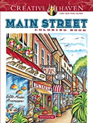 Creative Haven Main Street Coloring Book (Creative Haven Coloring Books)