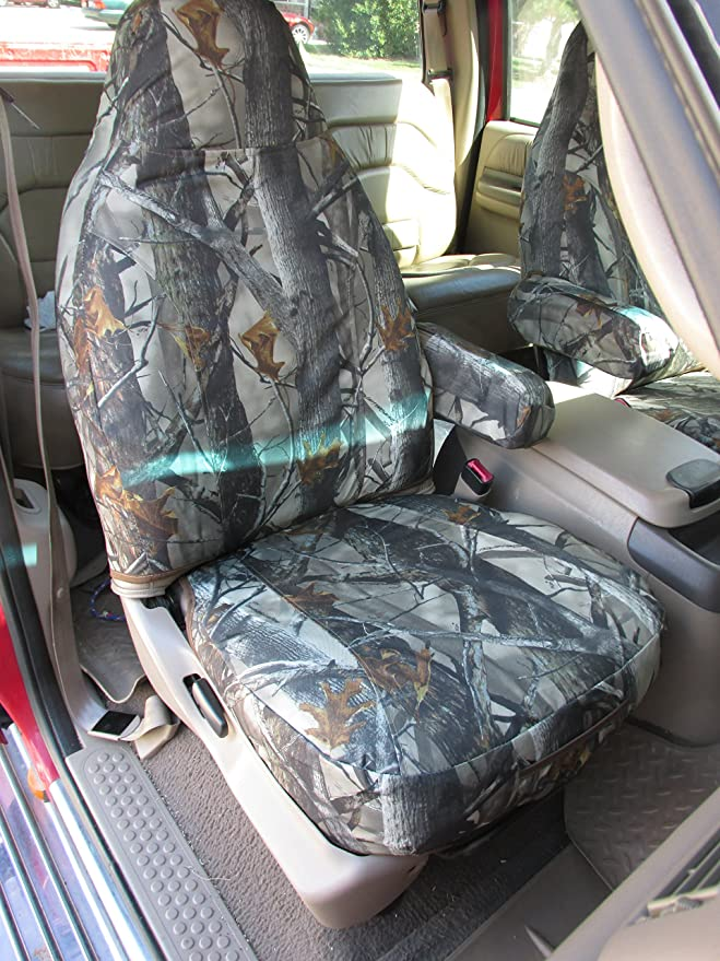 Durafit Seat Covers 1999-2001 Ford F150-F550 Truck F89-L3 Front High Back Captain Chair Seat Covers in Tan Leatherette Fabric with Molded Headrests and 1 Armrest Per Seat