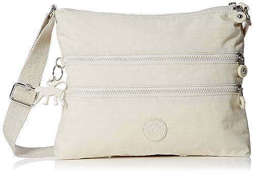 Womens Alvar Shoulder Bag, Lacquer Khakhi Kipling