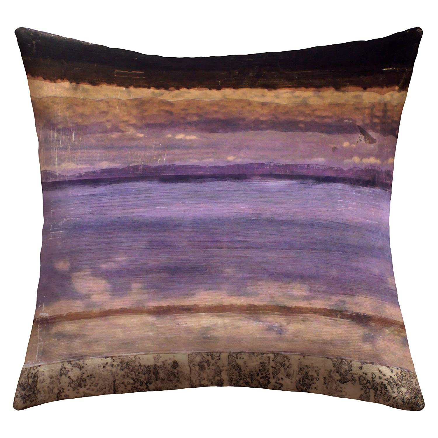 ArtVerse Katelyn Smith 26 x 26 Faux Suede Double Sided Print with Concealed Zipper /& Insert Maine Outline Pillow