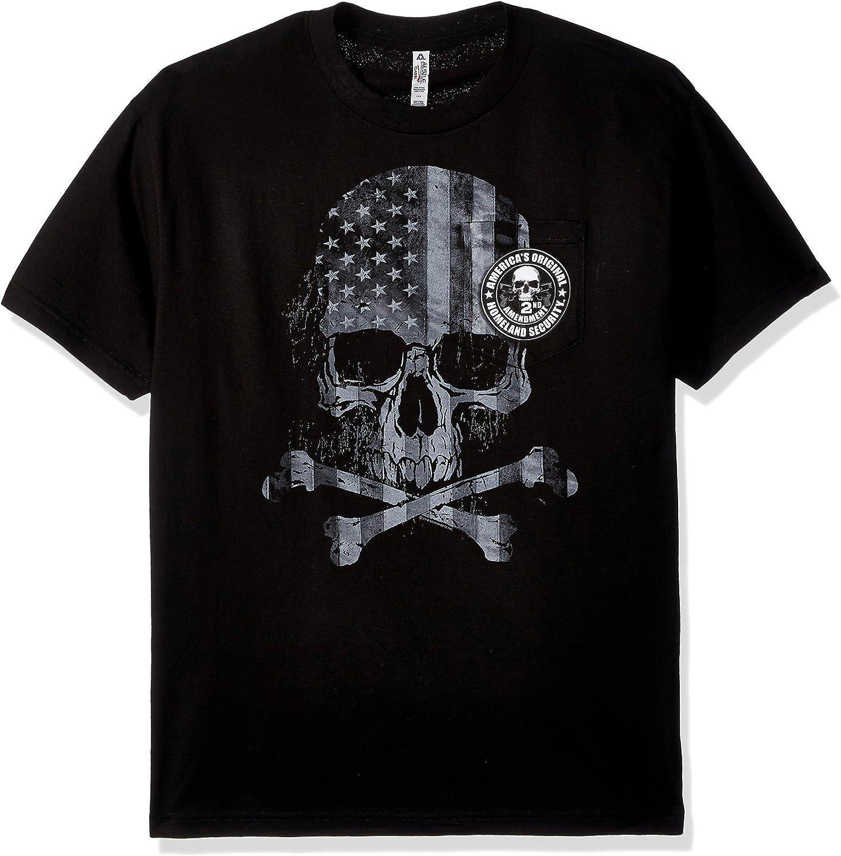 American Cruizer 3 Skull Design Short Sleeve White T-Shirt