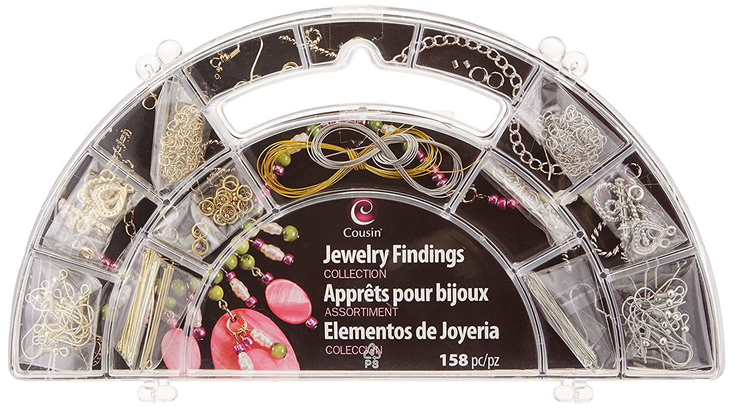 Cousin Precious Accents Jewelry Findings Collection 158/Pkg, Silver and Gold 13594