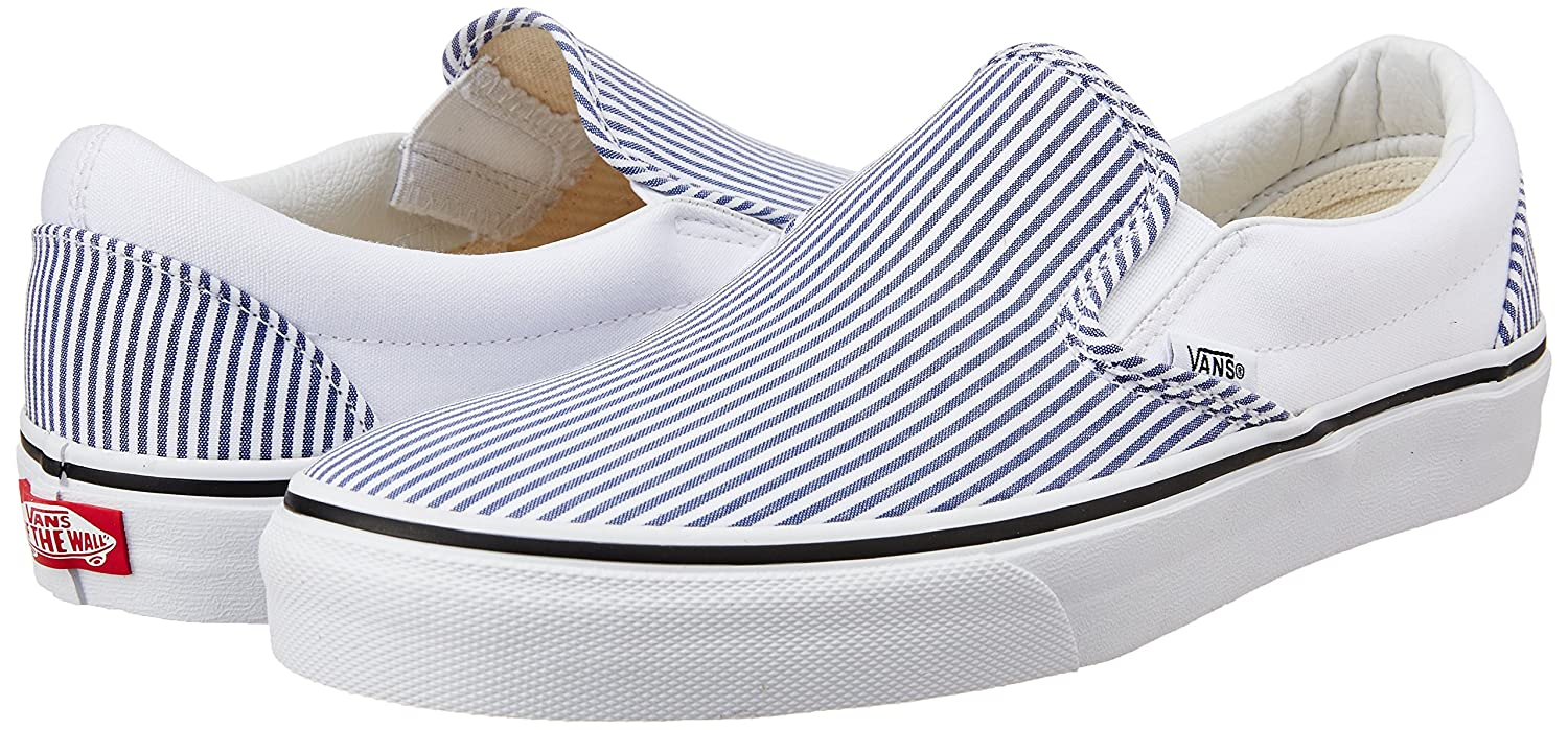 ed5e6c7186 Vans Men s Classic Slip-on Deck Club True White Canvas Boat Shoes - 8 UK   Buy Online at Low Prices in India - Amazon.in