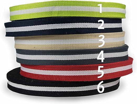 Alta calidad rayas correa de cinta, funda algodón en 40 mm de ...