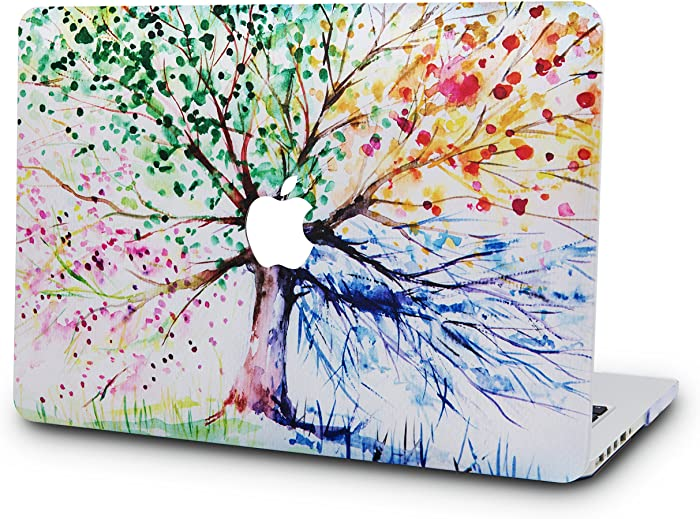 """KECC Laptop Case for MacBook Air 13"""" Retina (2020/2019/2018, Touch ID) Plastic Case Hard Shell Cover A2179/A1932 (Four Season Tree)"""