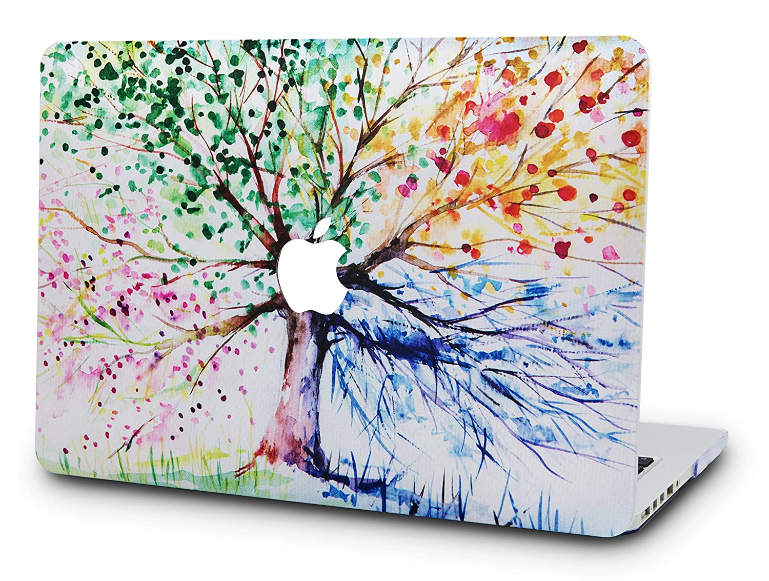 KECC Laptop Case for MacBook Air 13 Inch Plastic Case Hard Shell Cover A1466/A1369 (Four Season Tree)