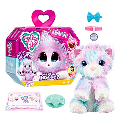 Little Live Scruff-A-Luvs Plush Mystery Rescue Pet - Candy Floss: Toys & Games