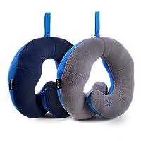 Oreiller de Voyage BCOZZY avec Support pour Le Menton – soutient la tête, Le Cou et Le Menton pour Un Maximum de Confort en Position Assise. Produit breveté. …