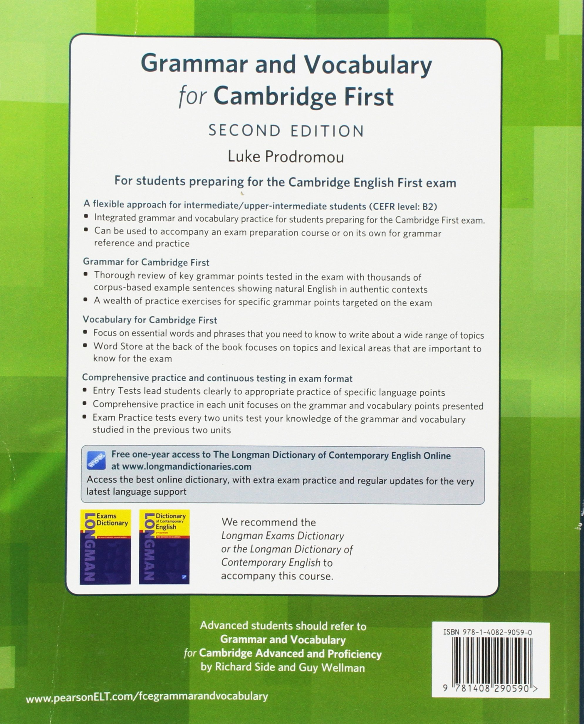 Grammar and Vocabulary For Cambridge First: For students