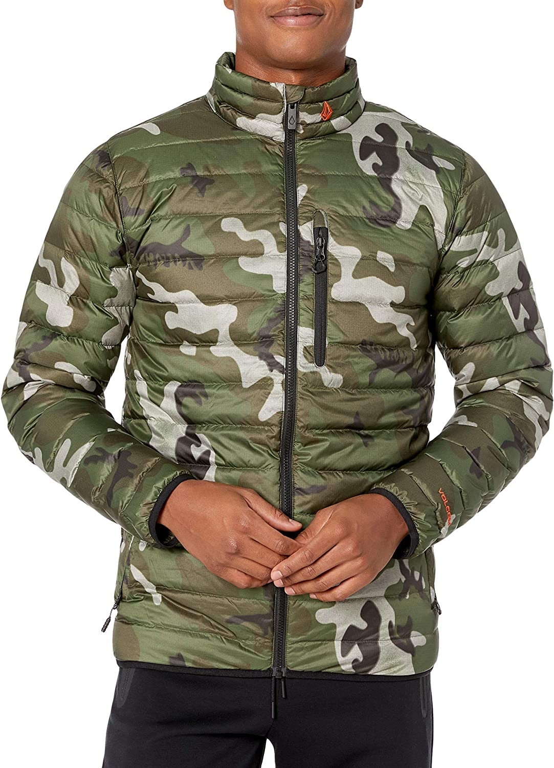 Volcom mens Puff Puff Give Bubble Goose Nylon Full Down Snow Jacket: Clothing