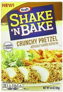 Shake 'N Bake Crunchy Pretzel Seasoned Coating Mix (4.6 oz Boxes, Pack of 8)