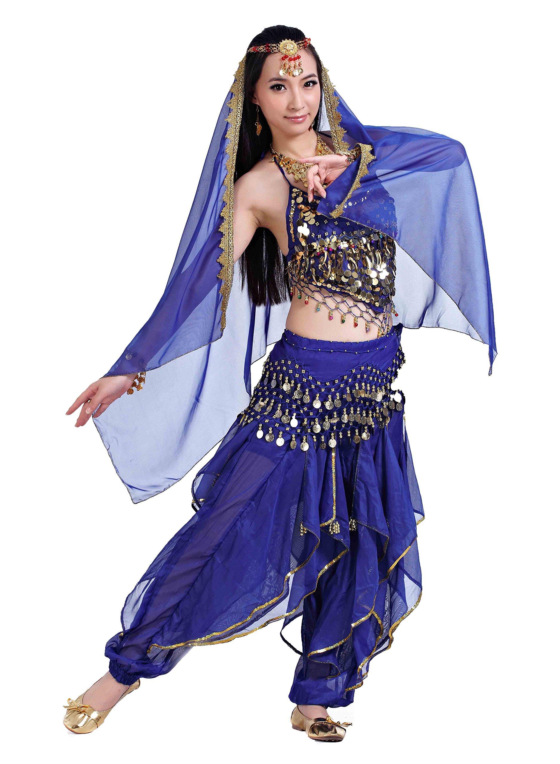 7c27b58d2581 Seawhisper 12 Colors Belly Dance India Arab Dance Halloween Carnival Costume  Set Sc 1 St Amazon UK