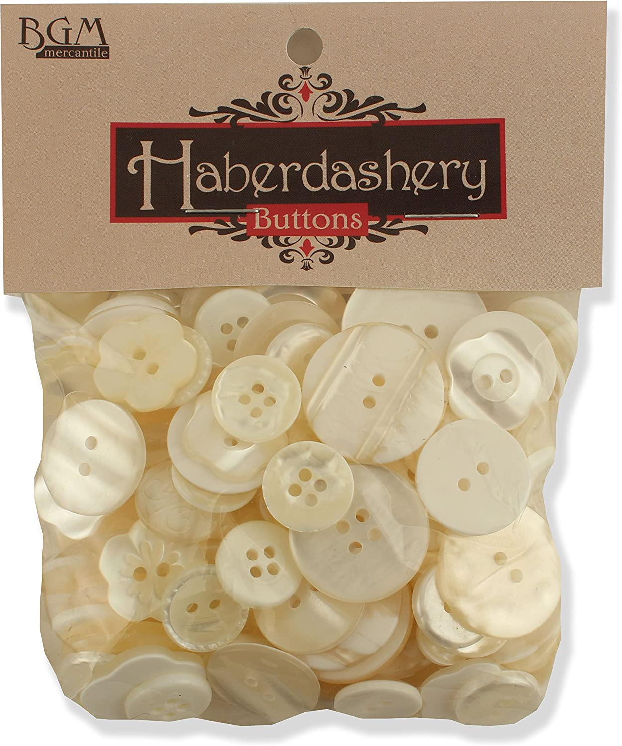 Ivory//Pearl Buttons Galore Haberdashery Button