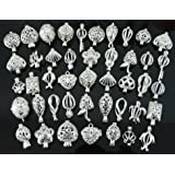 20pcs Mix Shape Jewelry Making Supplies Silver Plated Bead Cage Pendant - Add Your Own Pearls, Stones, Rock to Cage,Add Perfume and Essential Oils to Create a Scent Diffusing Pendant Charms