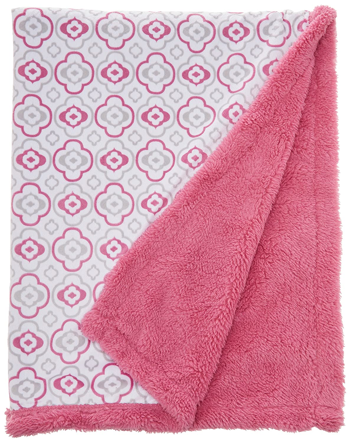 Red Tadpoles Quilted Nylon Puffer Baby Blanket