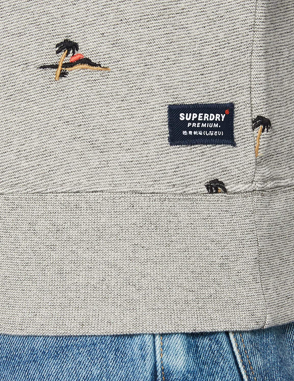 Superdry Herren AOE Crew Sweatshirt Grau (Silver Glass Feeder 9st)