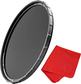 MRC8 Breakthrough Photography 58mm X2 6-Stop Fixed ND Filter for Camera Lenses H-K9L Glass Weather-Sealed Neutral Density Professional Photography Filter Nanotec Ultra-Slim