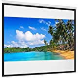 Best Choice Products 119in Projector Screen 1:1 Indoor Manual Pull Down HD Projection Screen for Home Theater, Office, Media,