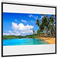 Best Choice Products 119in Projector Screen 1:1 Indoor Manual Pull Down HD Projection Screen for Home Theater, Office…