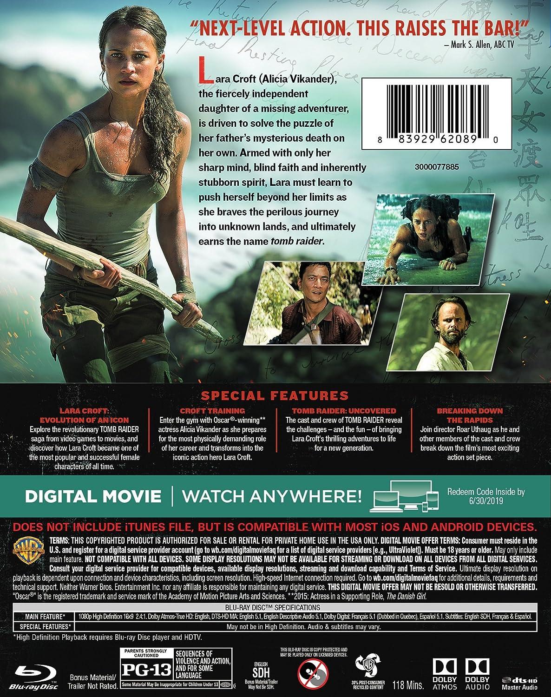 Amazon Com Tomb Raider Blu Ray Bd Alicia Vikander Dominic