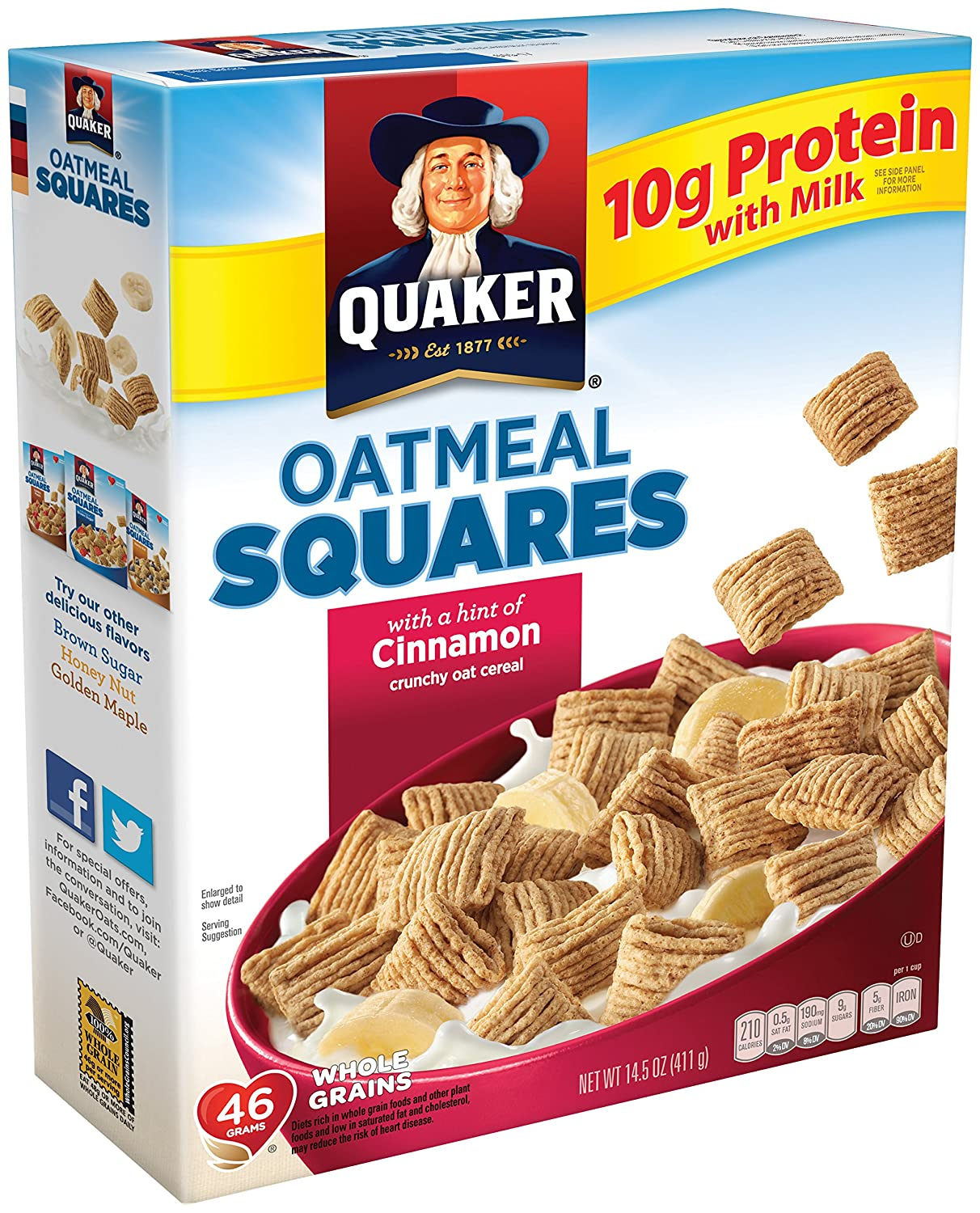 Amazon quaker oatmeal squares breakfast cereal variety pack amazon quaker oatmeal squares breakfast cereal variety pack 145 ounce 3 count grocery gourmet food ccuart Images