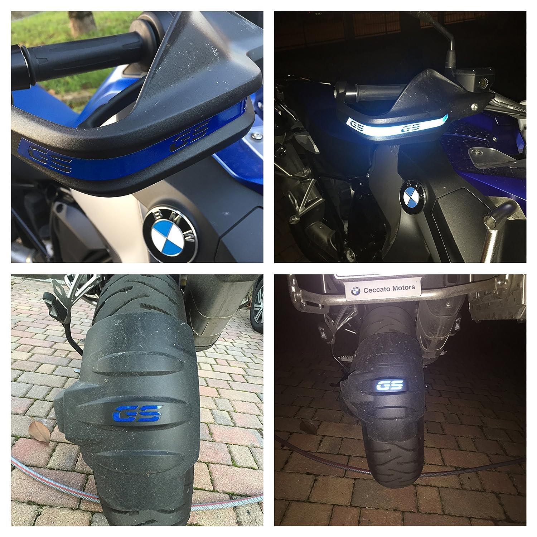 Pegatinas reflectantes para manillar y guardabarros de moto con la inscripción «GS» R1200GS / R1250GS