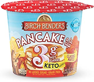 product image for Classic Maple Pancake Cups by Birch Benders, Grain-free, Gluten-Free, Keto friendly, only 4 Net Carbs, Just Add Water (8 Single Serve Cups)