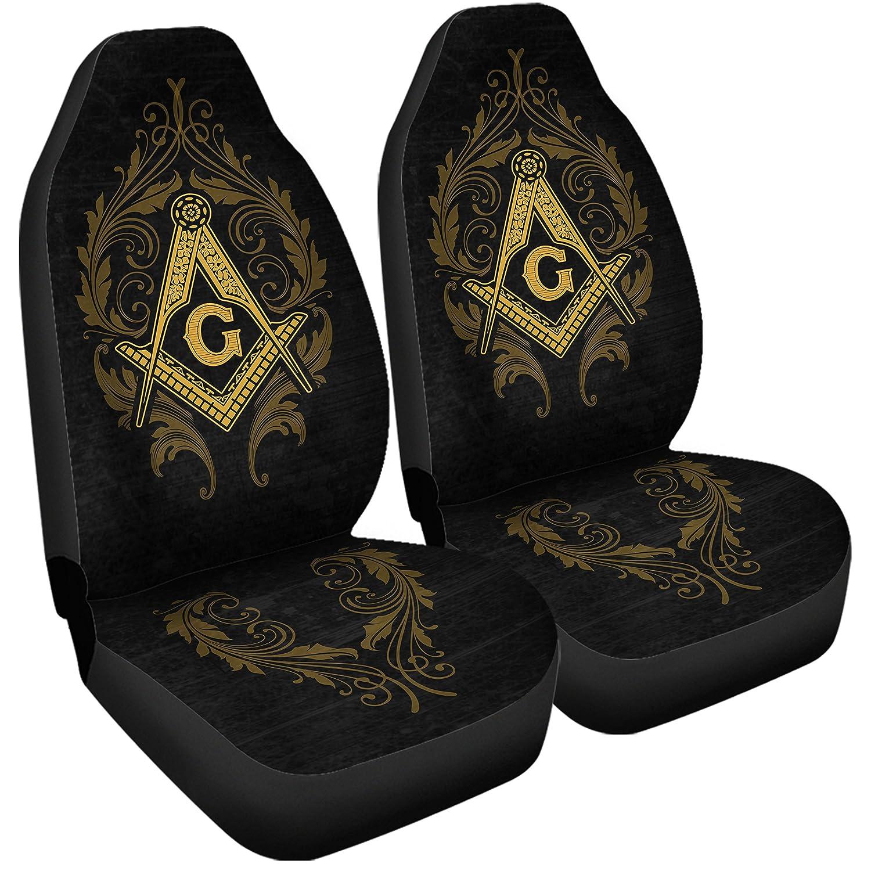 Gnarly Tees Freemason Car Seat Covers