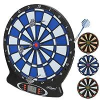 Physionics Elektronische Dartscheibe elektronisches Dartboard Darts Dartsport in drei verschiedenen Farben inkl. 6 Dartpfeilen