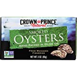 Crown Prince Natural Smoked Oysters in Pure Olive Oil, 3 Ounce