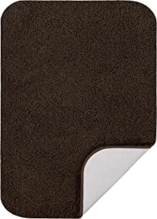 "product image for Maples Rugs Softec Non Slip Washable & Quick Dry Soft Bathroom Rugs [Made in USA], 20"" x 32"", Dark Brown"