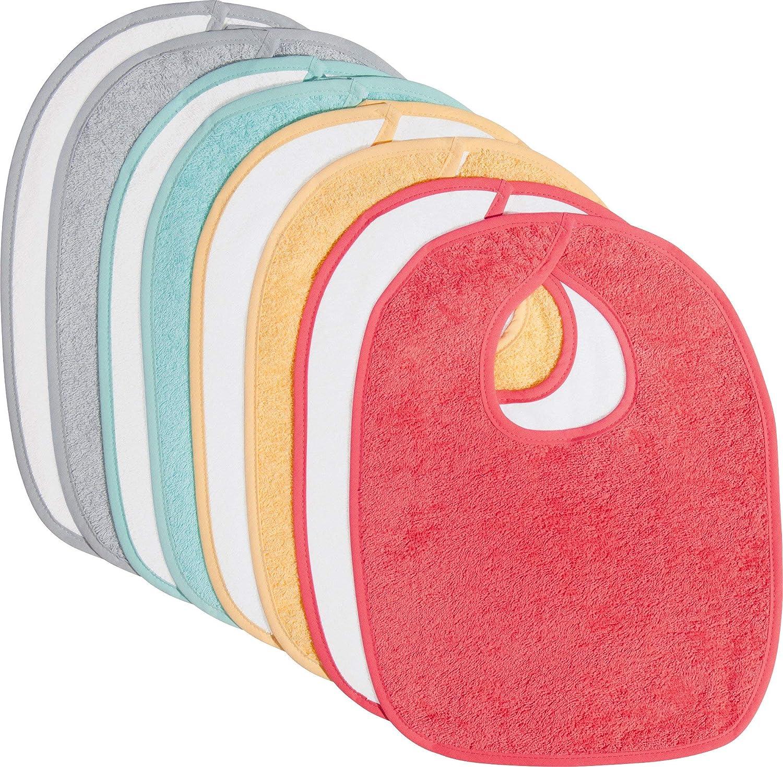 100/% Baumwolle flauschig weich Kinder-Latz 8er- Pack Frottier kr/äftig Gr/ö/ße 40x30 cm mit Klettverschluss Erwin M/üller Baby-L/ätzchen
