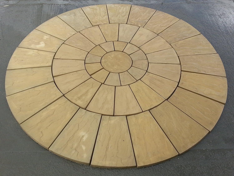 Beau Stone Concrete Circle Patio Paving Set 3.0 Meters.