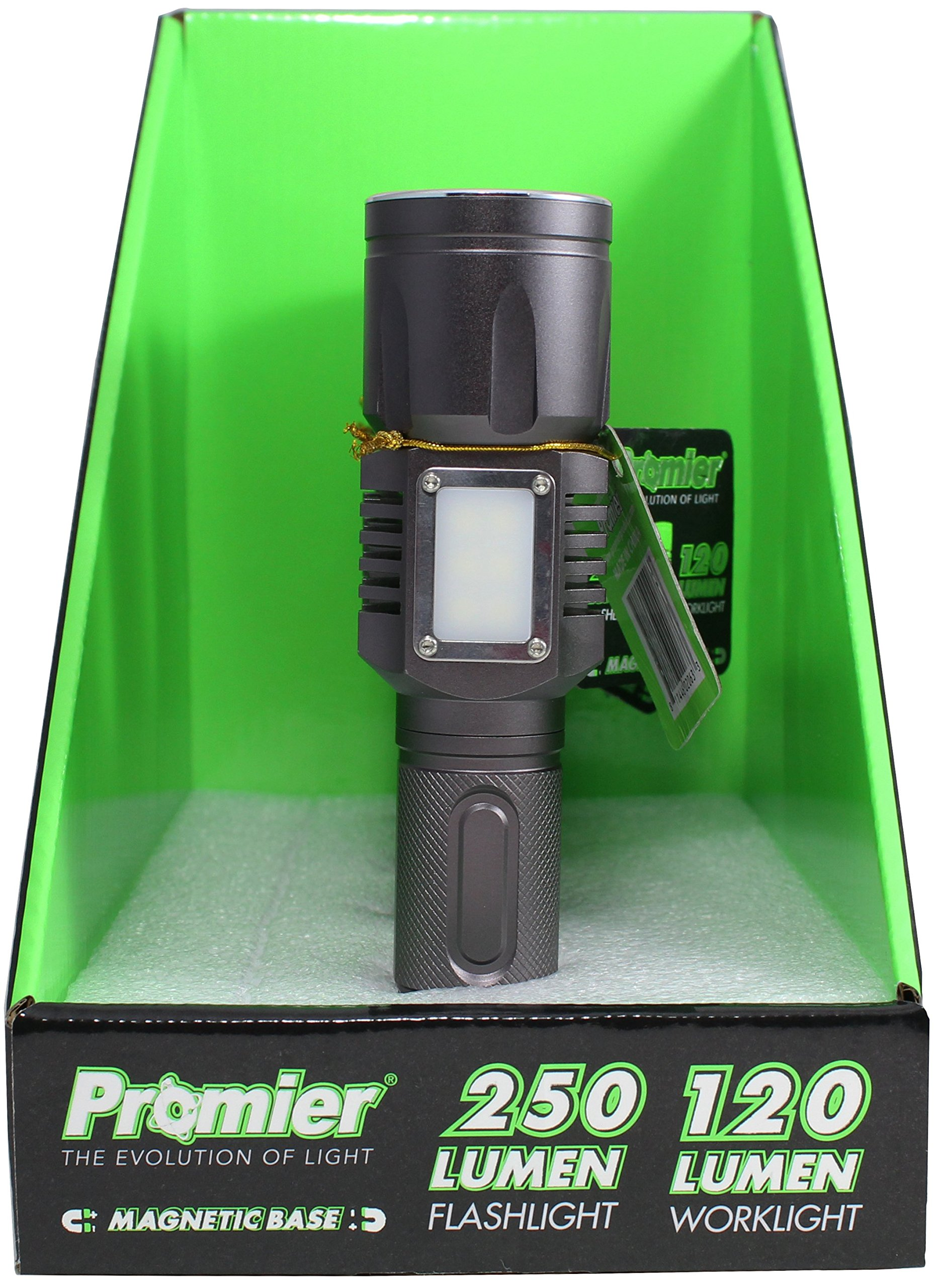 250 Lumen Bright LED Tactical Flashlight & 120 Lumen Lantern Work Light Combo