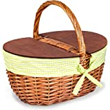 Wicker Picnic Basket - Thoughtful & Romantic Unique Christmas Gift for Outdoor Enthusiasts