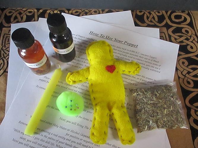 Amazon com: Voodoo Doll Kit ~ Success Spell Kit ~ Poppet Spell Kit