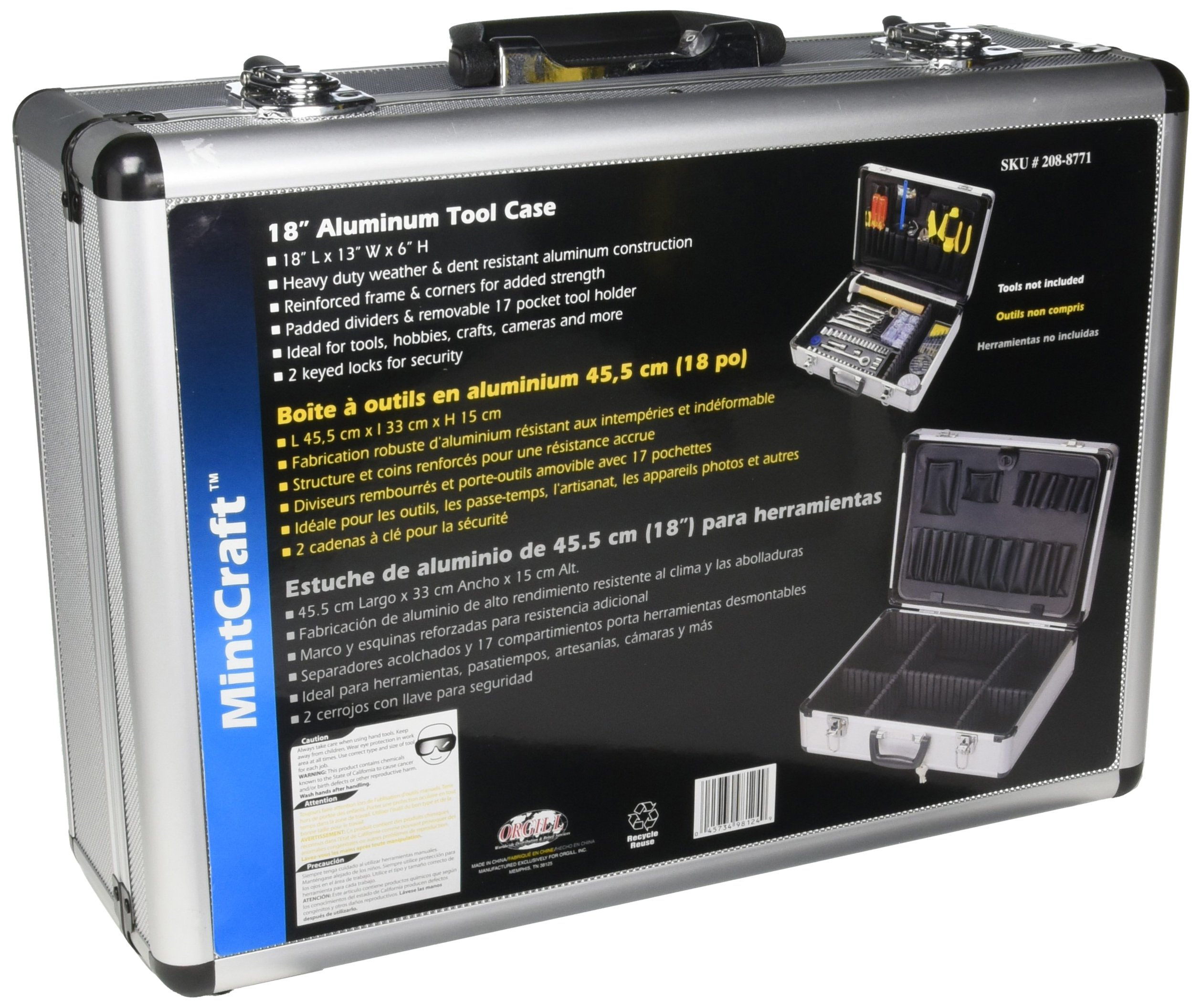 MINTCRAFT JL-10054 Case Aluminum 18 X 13 X 6 by Mintcraft