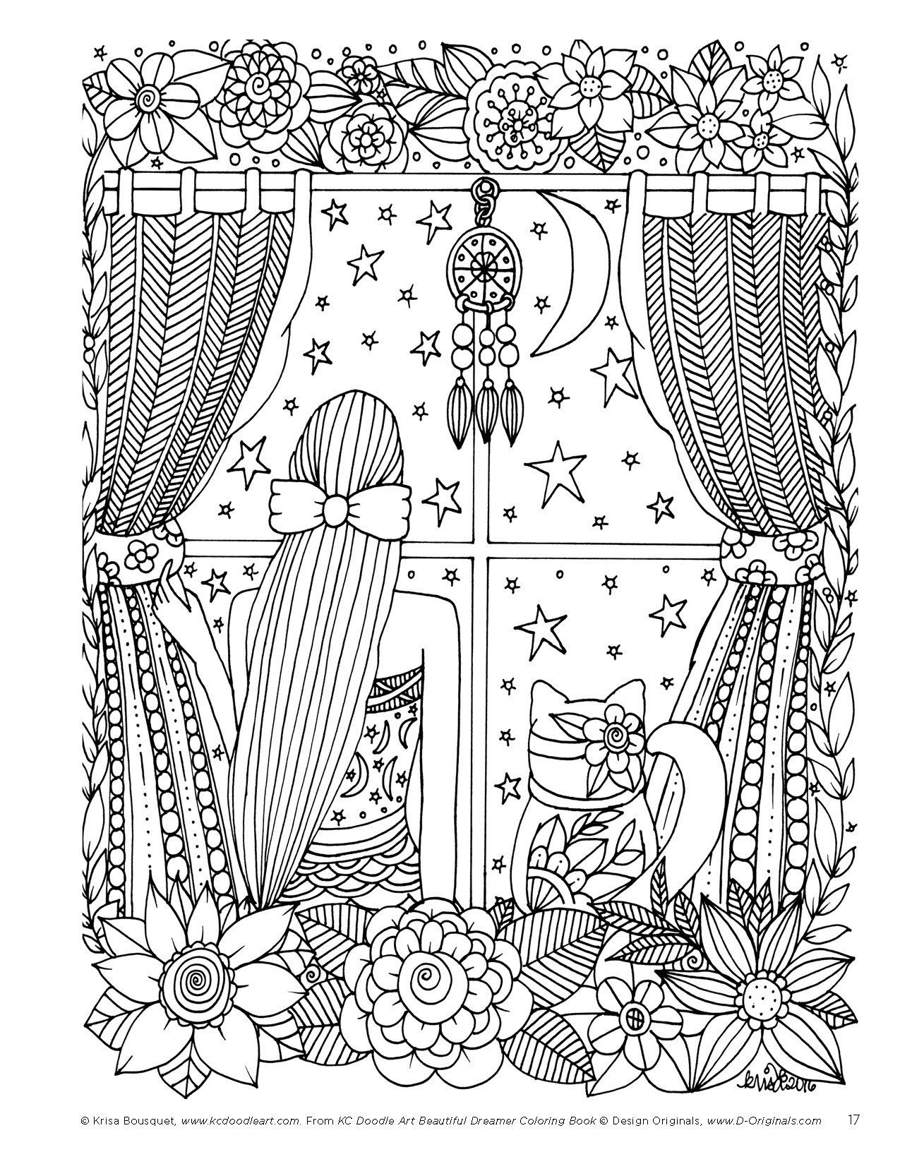 Amazon KC Doodle Art Beautiful Dreamer Coloring Book 9781497202825 Krisa Bousquet Books