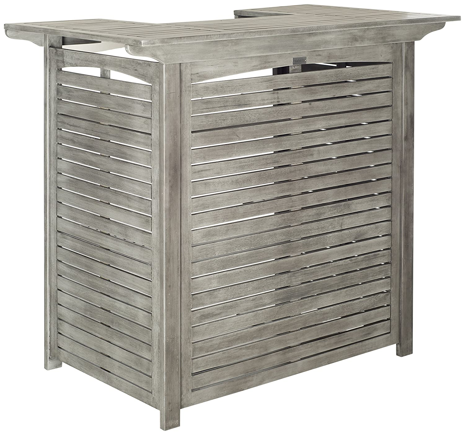 Amazon.com : Safavieh Outdoor Living Collection Monterey Washed Bar Table,  Grey : Garden & Outdoor - Amazon.com : Safavieh Outdoor Living Collection Monterey Washed Bar
