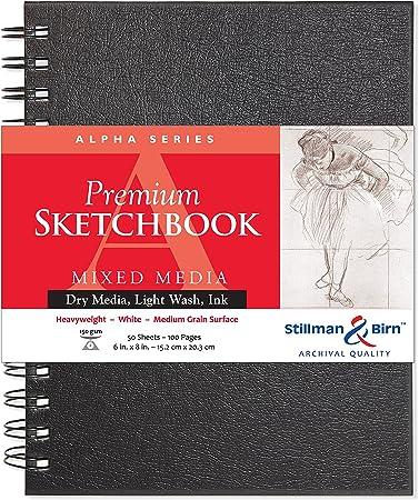 White Paper Heavyweight Stillman /& Birn Alpha Series Softcover Sketchbook 8.5 x 5.5 Medium Grain Surface 150 GSM