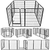 """ZENY Foldable Metal Exercise Pen & Pet Playpen Puppy Cat Exercise Fence Barrier Playpen Kennel - 8 Panels (31.5"""" W x 39.4"""" H)"""