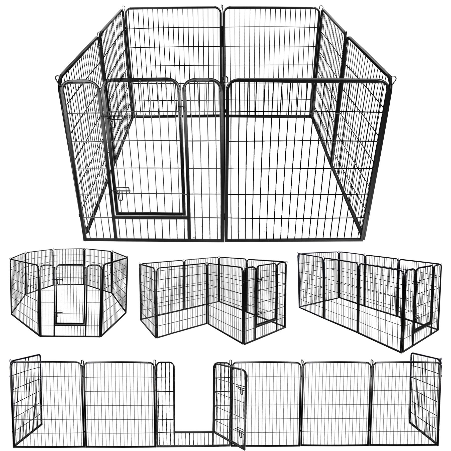 ZENY Foldable Metal Exercise Pen & Pet Playpen Puppy Cat Exercise Fence Barrier Playpen Kennel - 16 Panels/8 Panels (31.5'' W x 39.4'' H - 8 Panels) by ZENY