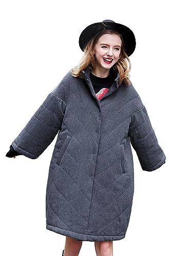You.U Casual Casual Lana Coat Oversize Primavera Otoño Abrigo