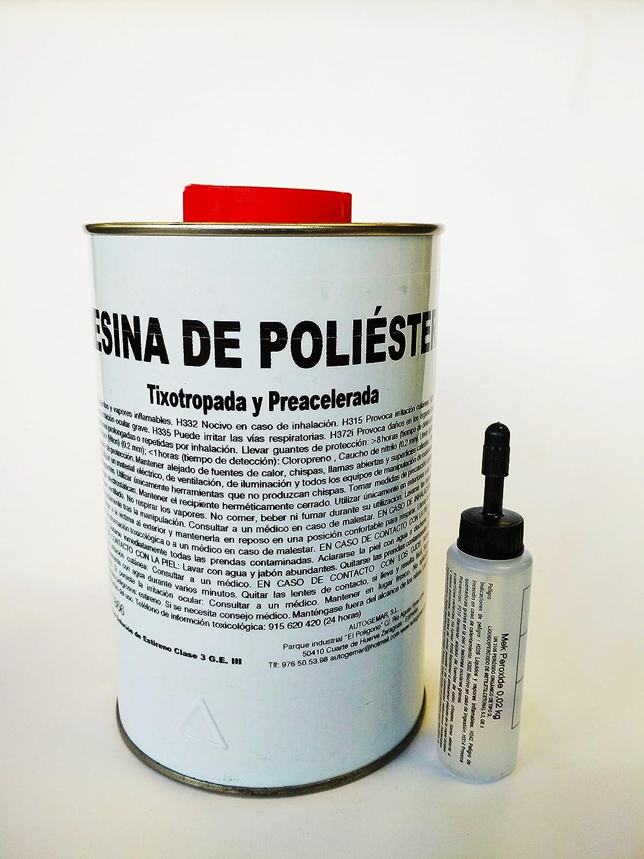 KIT RESINA DE POLIESTER 1 Kgr + 1m2 Manta de FIBRA DE VIDRIO: Amazon.es: Industria, empresas y ciencia