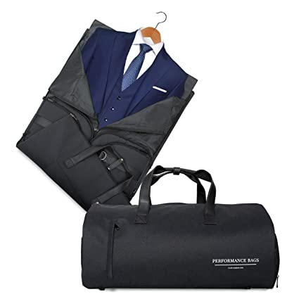 1307ecc037 Performance bags Convertible Garment Bag 2 in 1 Suit Cover and Travel Bag I  Shoulder Strap
