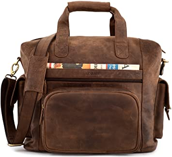 LEABAGS Corona sac de voyage rétro-vintage en véritable cuir de buffle - Noix de muscade JCCWRQQC