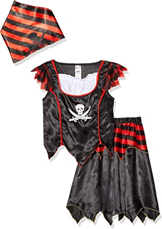 Smiffys-32341S Disfraz de Chica de Calavera de Pirata y Huesos ...
